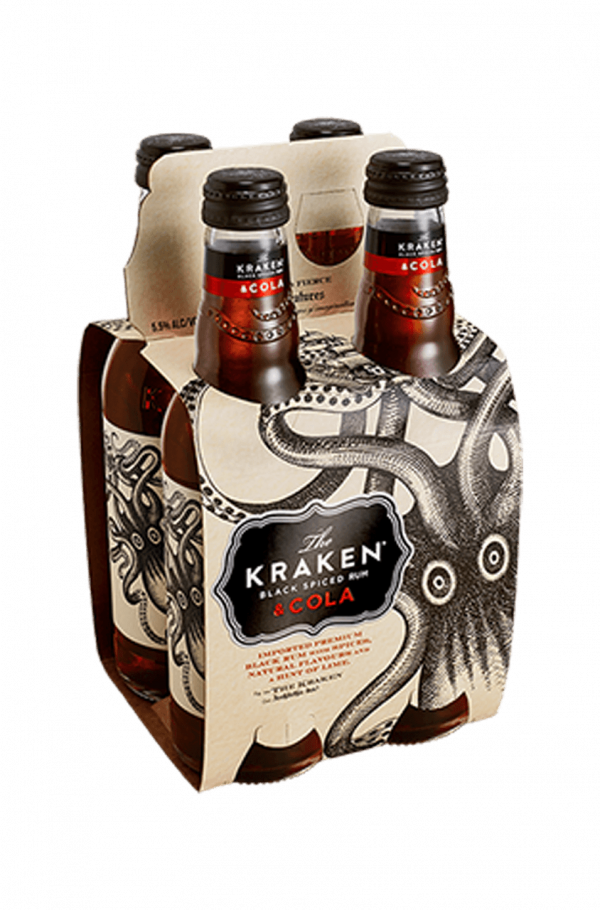 Kraken Rum and Cola Premix